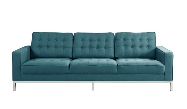 Chic Home Draper Blue Fabric Button Tufted Sofa CHIC-FSA2936-CE