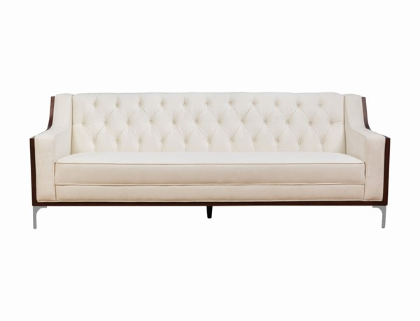 Chic Home Clark Cream Velvet Button Tufted Back Sofa CHIC-FSA2982-CE