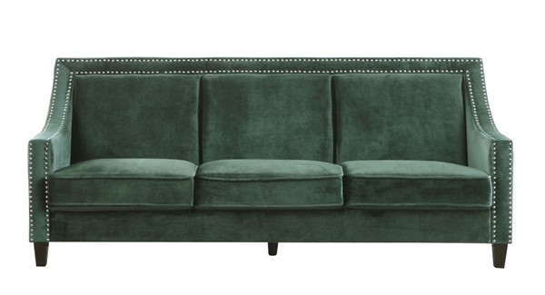 Chic Home Camren Green Velvet Nailhead Sofa CHIC-FSA9003-CE