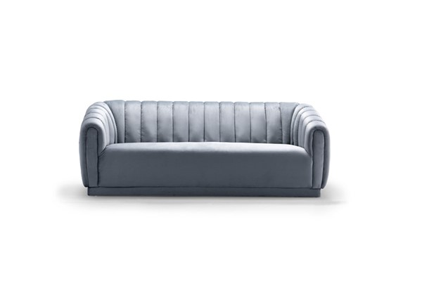 Chic Home Van Slate Blue Velvet Sofa CHIC-FSA9185-CE