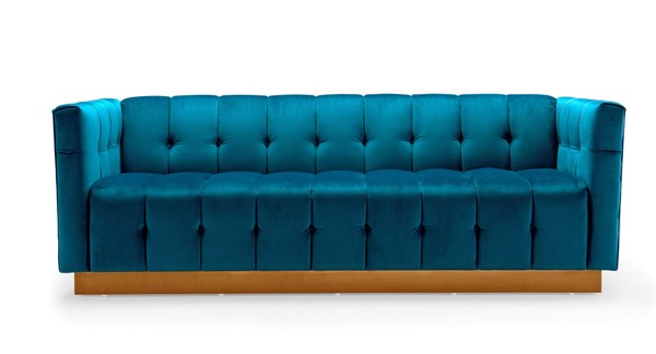 Chic Home Primavera Teal Velvet Button Tufted Sofa CHIC-FSA9188-CE