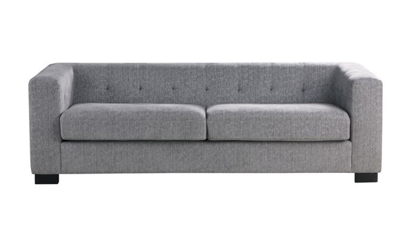 Chic Home Limoges Grey Chenille Tufted Back Sofa CHIC-FSA9195-CE