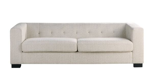 Chic Home Limoges Beige Chenille Tufted Back Sofa CHIC-FSA9196-CE
