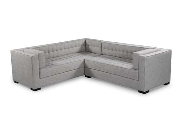 Chic Home Lorenzo Fabric Tufted L Shape Right Facing Sectional Sofas CHIC-FSA9290-RSEC-VAR