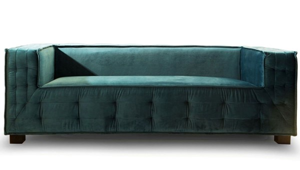 Chic Home Bryant Teal Velvet Upholstered Tufted Sofa CHIC-FSA9351-CE
