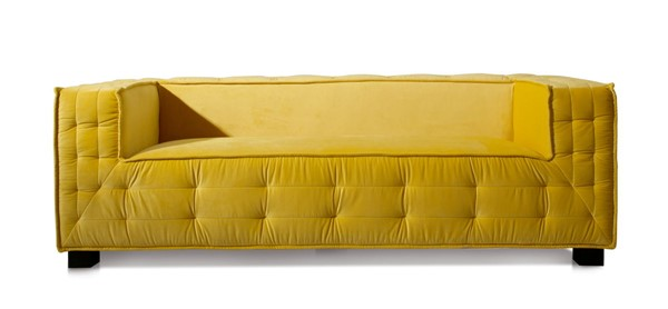Chic Home Bryant Yellow Velvet Upholstered Tufted Sofa CHIC-FSA9353-CE