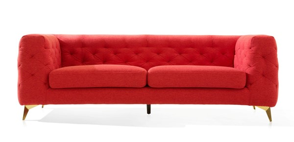 Chic Home Soho Red Fabric Tufted Back Sofa CHIC-FSA9360-CE