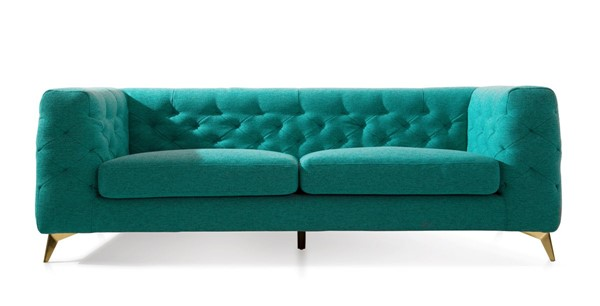 Chic Home Soho Green Fabric Tufted Back Sofa CHIC-FSA9361-CE