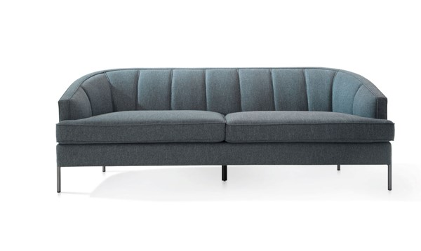 Chic Home Astoria Blue Fabric T Shaped Seat Sofa CHIC-FSA9372-CE