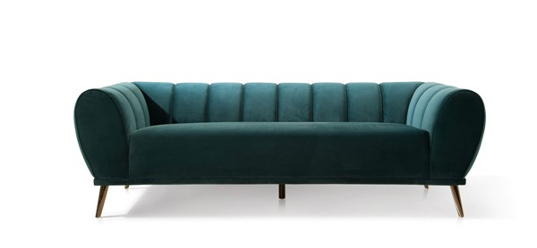 Chic Home Sybel Teal Velvet Sofa CHIC-FSA9379-CE