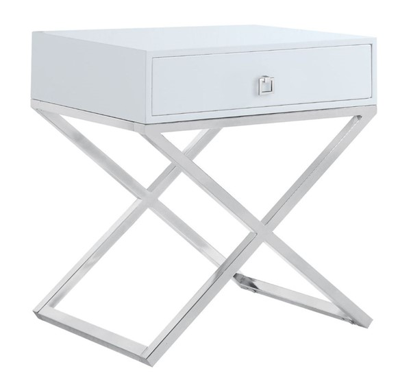 Chic Home Ithaca Modern White Night Stand Side Table CHIC-FST2761-CE