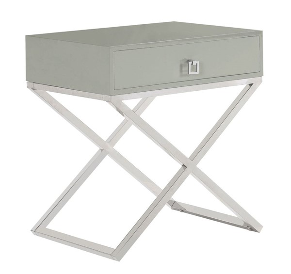 Chic Home Ithaca Modern Grey Night Stand Side Table CHIC-FST2762-CE
