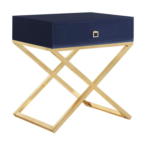 Chic Home Ithaca Modern Navy Night Stand Side Table CHIC-FST2763-CE