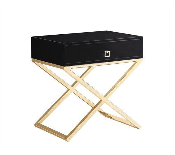 Chic Home Ithaca Modern Black Night Stand Side Table CHIC-FST2764-CE