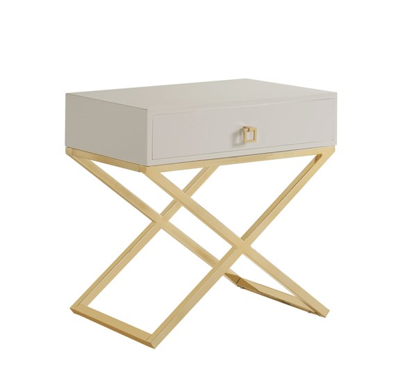 Chic Home Ithaca Modern Beige Night Stand Side Table CHIC-FST2797-CE