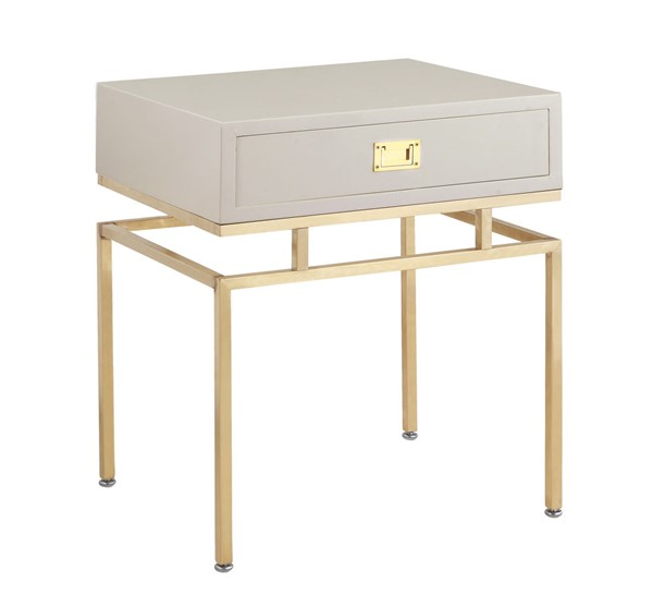 Chic Home Genoa Modern Beige Night Stand Side Table CHIC-FST2823-CE