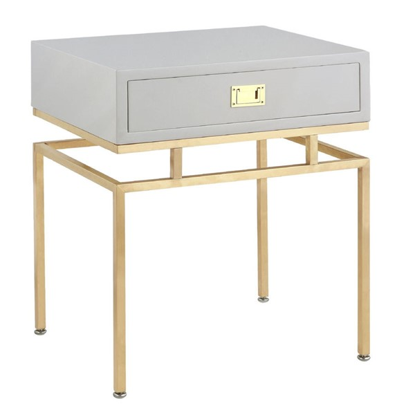 Chic Home Genoa Modern Grey Night Stand Side Table CHIC-FST2825-CE