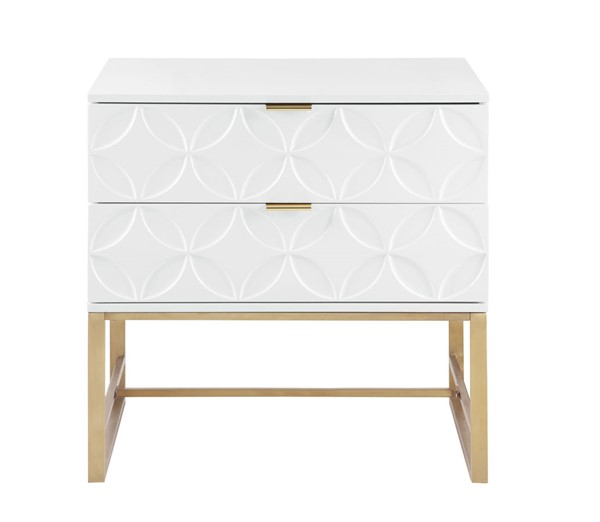 Chic Home Mantau Modern White 2 Drawers Night Stand Side Table CHIC-FST2826-CE