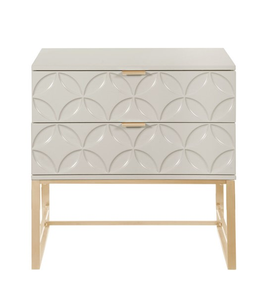 Chic Home Mantau Modern Beige 2 Drawers Night Stand Side Table CHIC-FST2827-CE