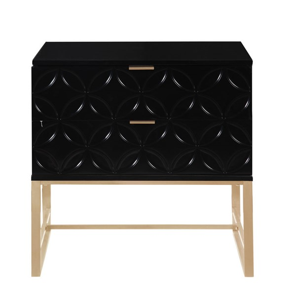 Chic Home Mantau Modern Black 2 Drawers Night Stand Side Table CHIC-FST2828-CE
