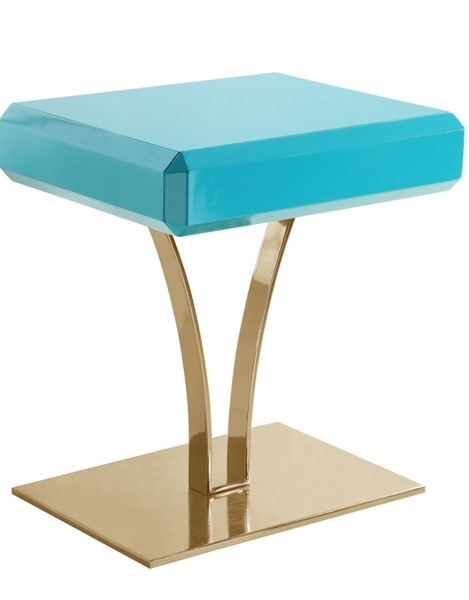 Chic Home Rochelle Green Self Closing Drawer Night Stand Side Table CHIC-FST2946-CE