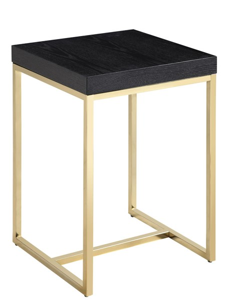 Chic Home Colmar Black Square Night Stand Side Table CHIC-FST2948-CE