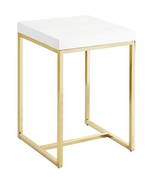 Chic Home Colmar White Square Night Stand Side Table CHIC-FST2950-CE
