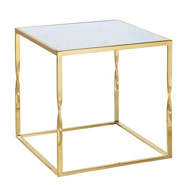 Chic Home Rialto Gold Metal Frame Side Table Night Stand CHIC-FST9095-CE