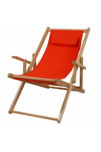 Casual Home Natural Orange Fabric Sling Chair CHOM-114-00-011-19