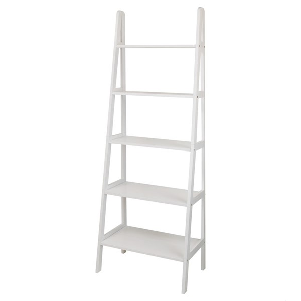 Casual Home White 5 Shelves Ladder Bookcase CHOM-176-51