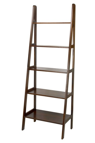 Casual Home Warm Brown 5 Shelves Ladder Bookcase CHOM-176-54