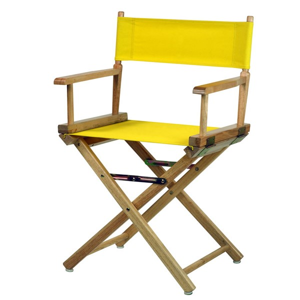 Casual Home Natural Yellow Canvas 18 Inch Directors Chair CHOM-200-00-021-14