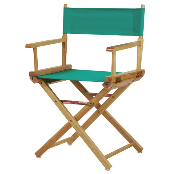 Casual Home Natural Teal Canvas 18 Inch Directors Chair CHOM-200-00-021-17