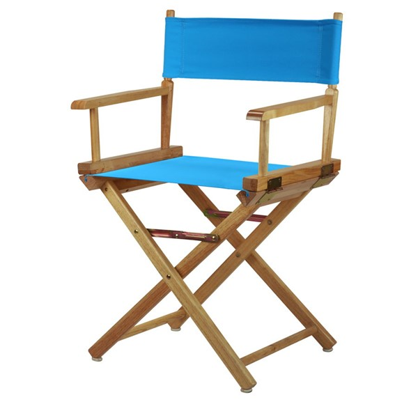 Casual Home Natural Turquoise Canvas 18 Inch Directors Chair CHOM-200-00-021-27