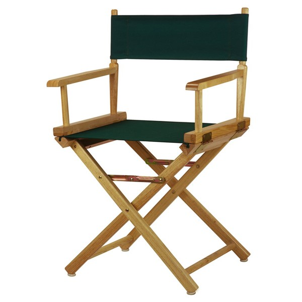 Casual Home Natural Hunter Green Canvas 18 Inch Directors Chair CHOM-200-00-021-32