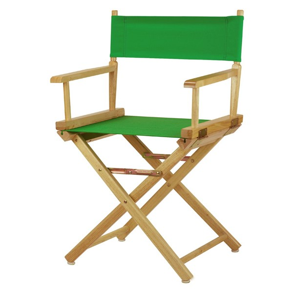 Casual Home Natural Green Canvas 18 Inch Directors Chair CHOM-200-00-021-33