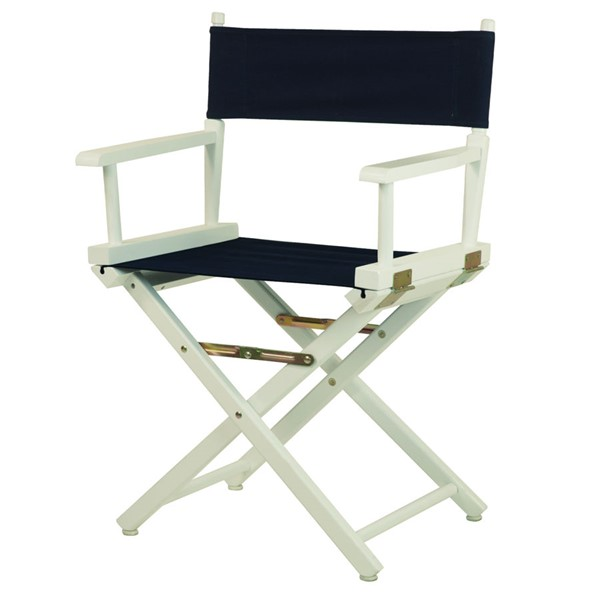 Casual Home White Navy Canvas 18 Inch Directors Chair CHOM-200-01-021-10