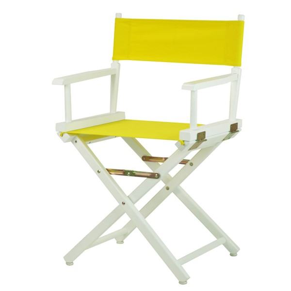 Casual Home White Yellow Canvas 18 Inch Directors Chair CHOM-200-01-021-14