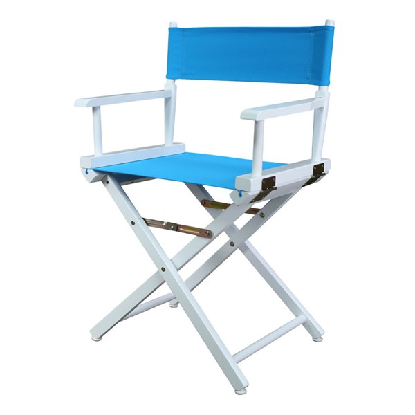 Casual Home White Turquoise Canvas 18 Inch Directors Chair CHOM-200-01-021-27