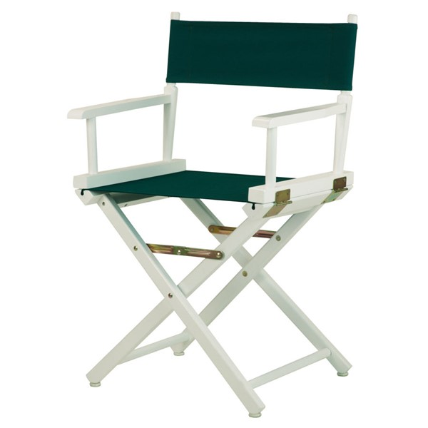 Casual Home White Hunter Green Canvas 18 Inch Directors Chair CHOM-200-01-021-32