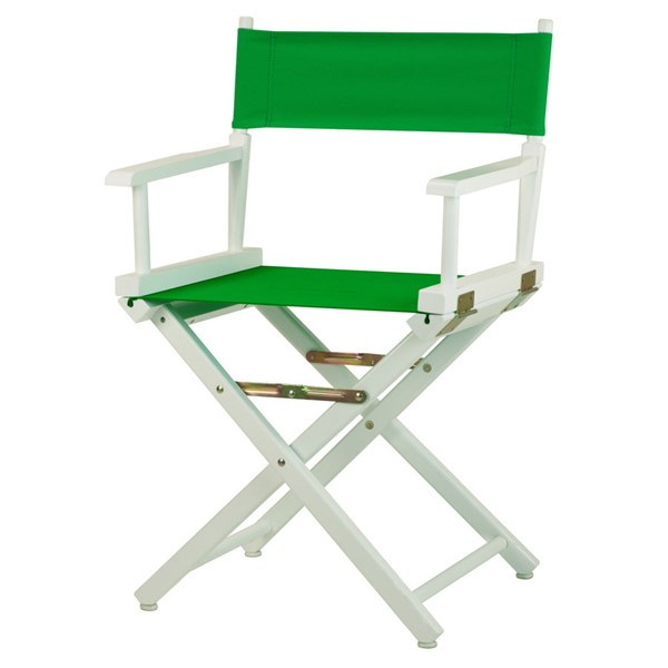 Casual Home White Green Canvas 18 Inch Directors Chair CHOM-200-01-021-33