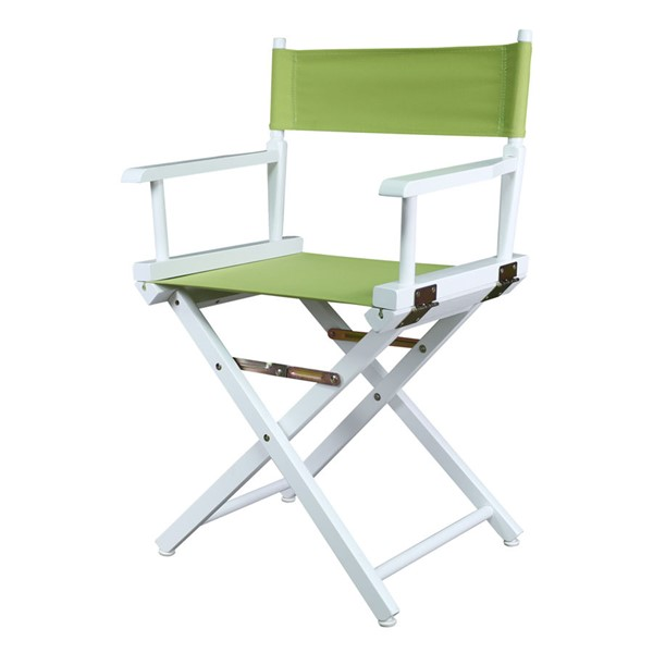 Casual Home White Lime Green Canvas 18 Inch Directors Chair CHOM-200-01-021-72