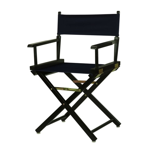 Casual Home Black Navy Canvas 18 Inch Directors Chair CHOM-200-02-021-10