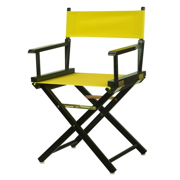 Casual Home Black Yellow Canvas 18 Inch Directors Chair CHOM-200-02-021-14