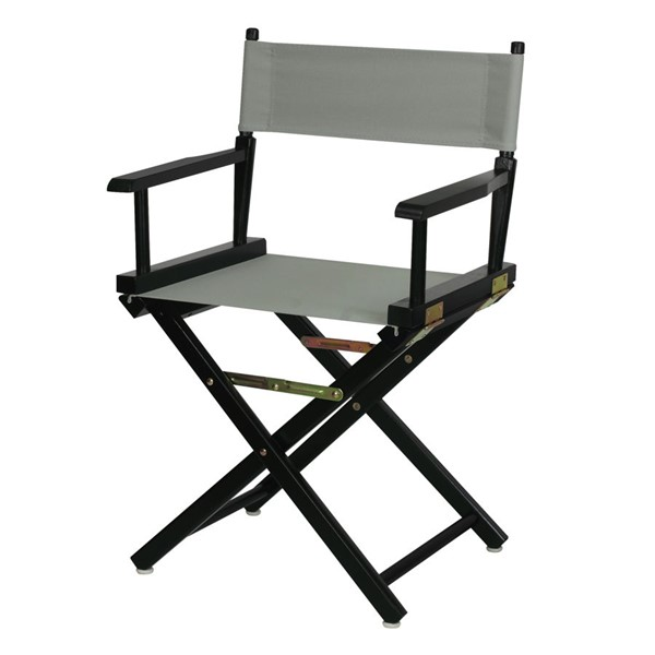 Casual Home Black Gray Canvas 18 Inch Directors Chair CHOM-200-02-021-18