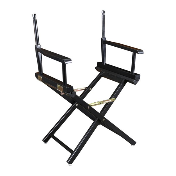 Casual Home Black 18 Inch Directors Chair Frame CHOM-200-02