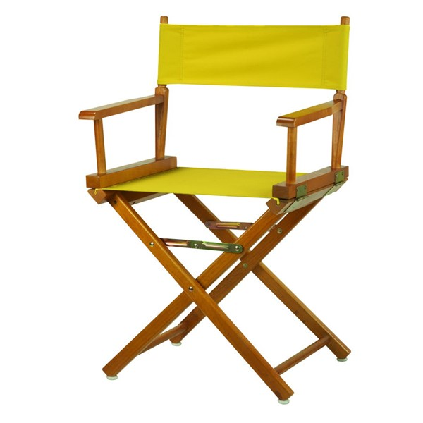 Casual Home Honey Oak Yellow Canvas 18 Inch Directors Chair CHOM-200-55-021-14