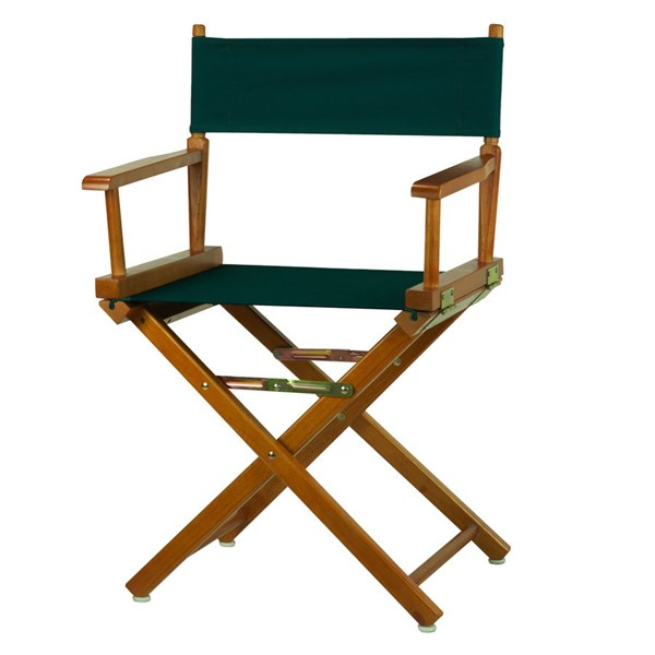 Casual Home Honey Oak Hunter Green Canvas 18 Inch Directors Chair CHOM-200-55-021-32