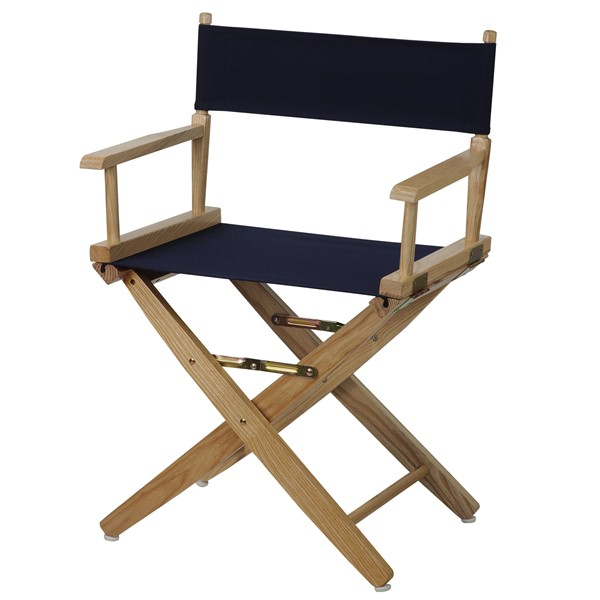 Casual Home Natural Navy Extra Wide Premium 18 Inch Directors Chair CHOM-206-00-032-10