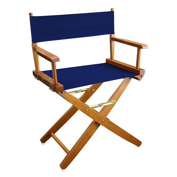 Casual Home Oak Royal Blue Extra Wide Premium 18 Inch Directors Chair CHOM-206-04-032-13